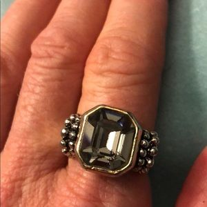 Jewelry - Fashion smokey quartz and silver ring